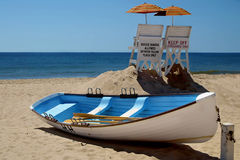 Lifeguard boat. On beach long island new york stock image