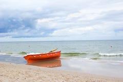 Lifeguard boat Stock Photo