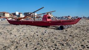 Lifeguard Boat in the Resort Town of Viareggio stock images