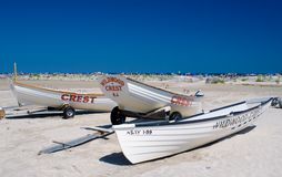 Lifeguard boats Royalty Free Stock Photo