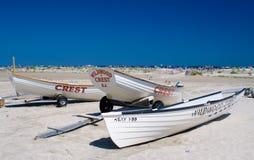 Lifeguard boats Royalty Free Stock Photo
