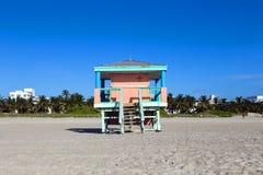 Lifeguard cabin on empty beach, Stock Photos