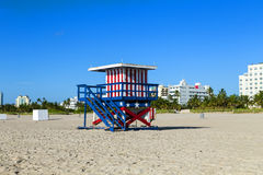 Lifeguard cabin on empty beach, Royalty Free Stock Photo