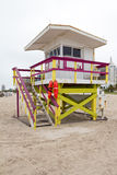 Lifeguard cabin at Miami Beach Royalty Free Stock Photography