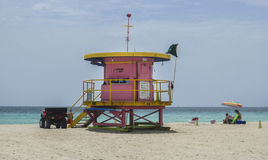 LIfeguard Cabin Miami Beach Florida Royalty Free Stock Photography