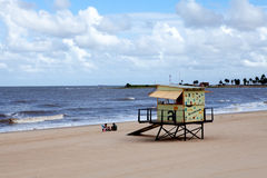 Lifeguard Cabin, Montevideo Royalty Free Stock Images