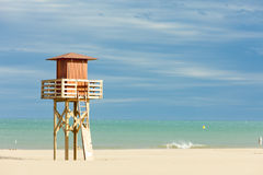 Lifeguard cabin in Narbonne Plage Stock Photo