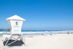 Lifeguard cabin in Pacific Beach Royalty Free Stock Image