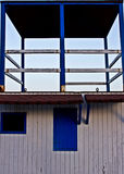 Lifeguard cabin in spanish coast. With blue sky Royalty Free Stock Photography