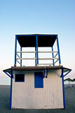 Lifeguard cabin in spanish coast Stock Photos