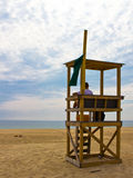 Lifeguard on Cape Cod beach Royalty Free Stock Photography