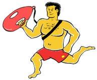 Lifeguard. Caricature illustration of lifeguard Stock Image