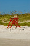 Lifeguard Chair. Lifeguard and sand dunes on the beach Stock Images
