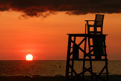 Lifeguard Chair. A Fort Desoto Park near St. Pete Florida Royalty Free Stock Photos