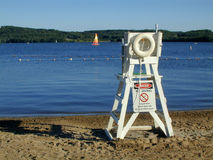 Lifeguard Chair. On lake stock photography