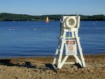 Lifeguard Chair. On lake Stock Photography