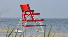 Lifeguard Chair. At the New Jersey shore Taken August 28, 2011 stock photography