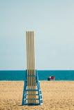 Lifeguard chair at beach Royalty Free Stock Image