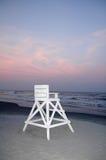 Lifeguard Chair at Beach. Empty White Lifeguard Chair at Beach Royalty Free Stock Photos