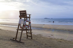 Lifeguard chair on the beach Stock Photography