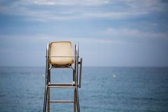 The lifeguard chair on the beach Royalty Free Stock Images
