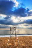A lifeguard chair Royalty Free Stock Photo