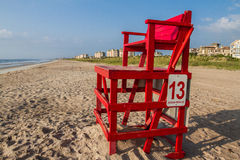 Lifeguard Chair. An empty lifeguard chair on a Florida beach stock photos
