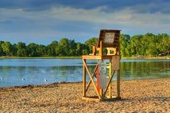Lifeguard Chair in High Dynamic Range Stock Photo