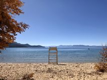 Lifeguard Chair. Lake Tahoe royalty free stock images