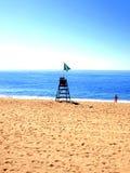 Lifeguard & chair, Lloret de Mar, Spain Royalty Free Stock Photography
