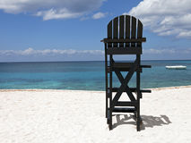 Lifeguard Chair at Tropical Beach Royalty Free Stock Images
