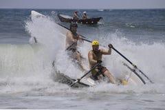 Lifeguard dory surf race Stock Image