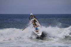 Lifeguard dory surf race Stock Photography