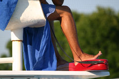 Lifeguard on duty Stock Photos