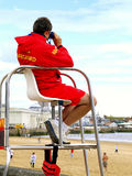 Lifeguard on duty, Bridlington, UK. Stock Photography