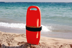 Lifeguard equipment on beach Royalty Free Stock Photo