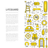 Lifeguard equipment icon Royalty Free Stock Photos