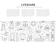 Lifeguard equipment icon Stock Photography