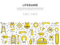 Lifeguard equipment icon Stock Images