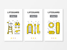 Lifeguard equipment icon Royalty Free Stock Image