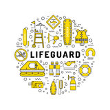 Lifeguard equipment icon Stock Photo
