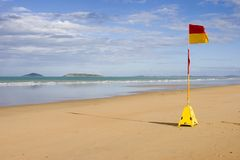 Lifeguard flag Royalty Free Stock Photos