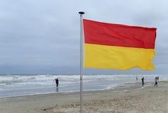Lifeguard flag Royalty Free Stock Photography