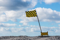 Lifeguard Flag on Beach on San Diego Royalty Free Stock Photography