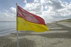 Lifeguard flag Stock Photography