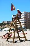 Lifeguard Fuengirola στην παραλία Στοκ Φωτογραφίες
