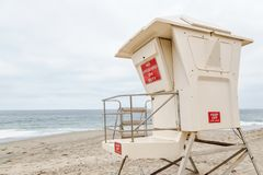 The Lifeguard Headquarter. The lifguard headquarter in Laguna Beach, California stock photo