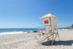 The Lifeguard Headquarter. The lifguard headquarter in Laguna Beach, California stock photos