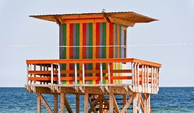 Lifeguard house Stock Image