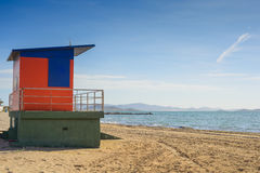 Lifeguard house on the beach Royalty Free Stock Photos